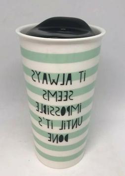 """Ciroa Reuseable Porcelain Travel Mug - Tall 6.5""""  NEW"""