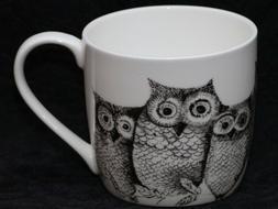 ROSE of ENGLAND OWLS FAMILY Fine Bone China Barrel Mug