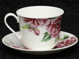 ROY KIRKHAM CAMELLIA Fine Bone China Breakfast Cup & Saucer