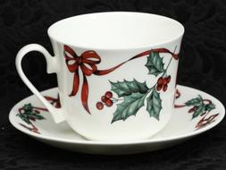 ROY KIRKHAM CHRISTMAS RIBBON Fine Bone China Breakfast Cup/S