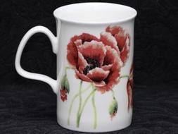 ROY KIRKHAM RED POPPY Fine Bone China LANCASTER Mug #1b
