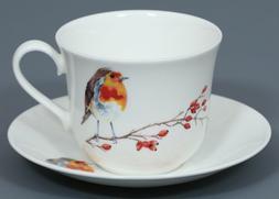 ROY KIRKHAM ROBIN Fine Bone China BREAKFAST Cup & Saucer Set