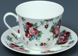 ROY KIRKHAM ROMANTIC ROSE Fine Bone China BREAKFAST Cup/Sauc