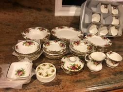 ROYAL ALBERT ' OLD COUNTRY ROSES '  TEA SET AND TABLEWARE -
