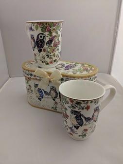 Lightahead Royal Bone China Unique Set Of Two Coffee/Tea Mug