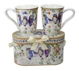 Lightahead Royal Bone China Unique Set Of Two Coffee/Tea Mug