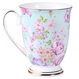 AWHOME Royal Fine Bone China Coffee Mug Assorted colors Tea