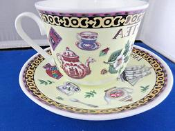 *SALE*  TEA BREAKFAST CUP SAUCER MADE IN ENGLAND BY ROY KIRK