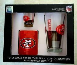 San Francisco 49ers Glassware Gift Set Pack Pint Glass Shot
