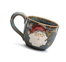 Large Santa Clause 30 Oz Christmas Soup Mug for Holiday Dini