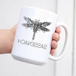Sassenach Dragonfly Coffee Mug Gift Mug Women Outlander Fan