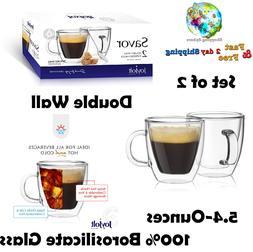 Savor Double Wall Insulated glasses Espresso Mugs Set Of 2 5