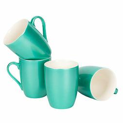 Seafoam Teal Green Metallic Finish New Bone China Coffee Cup