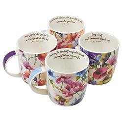 Seeds of Love Inspirational Mugs - Set / 4