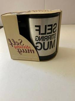 Self Stirring Coffee Mug, 8 oz Stainless Steel by Chuzy Chef