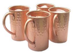 STREET CRAFT Set of-4, Drinkware Accessories Hammered Copper