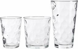Set Of 12 Drinking Glasses Kitchen Glassware Mix Clear Glass