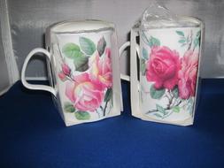 Set of 2 ENGLISH ROSE Infuser mugs, Fine Bone China MadeEngl