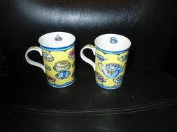 SET OF 2 CHINACRAFT OF LONDON AFTERNOON TEA FINE BONE CHINA