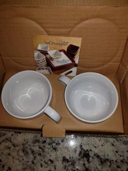 Set of 2 Pampered Chef Simple Additions Coffee Cup Mug Overs