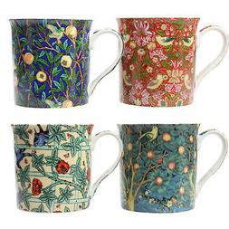 Set of 4 Fine China Tea Coffee Mugs William Morris Painting