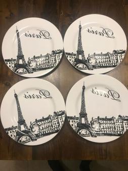 "Set of 4 CIROA Paris France City 10 3/4"" Dinner Plates Fin"