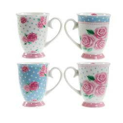 Set Of 4 Vintage Rose Afternoon Tea New Bone China Drinking