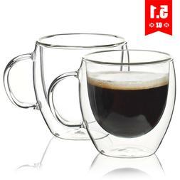 Set of 6 5 4 - 150ml Coffee Mug Glass Double-wall Insulation
