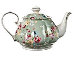 Gracie China Shabby Rose Porcelain 4-1/2-Cup Teapot, Shabby