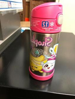 shopkins 12 oz funtainer water bottle pink