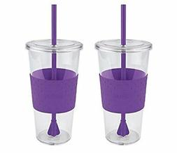 Copco Sierra Cold Tumbler Togo Cup with Straw 24 Ounce 2 Pac