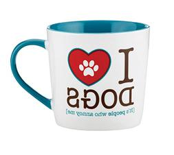 CB Gift Sips Drinkware Coffee Mug, I Heart Dogs
