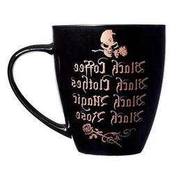 Alchemy Gothic Skull and Roses Coffee Cup Mug Black Bone Chi