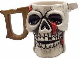 Decodyne Skull Funny Coffee Mug - Halloween Decoration, 3D C