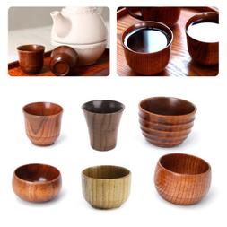 Small Handmade Natural Solid Wood Tea Cup Wooden Wine Coffee