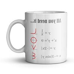 Smart Design Math Style LOVE Pattern All you need is LOVE Ce