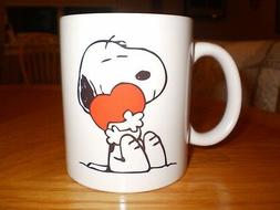 Snoopy and a Red Heart Coffee Mug