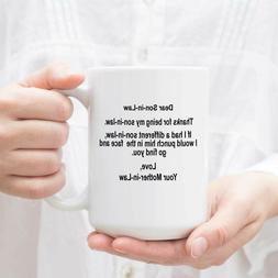 Son In Law Coffee Mug Tea Cup Gift - Mother In Law To Dear S