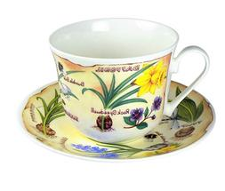 spring flowers breakfast tea cup saucer fine