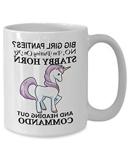 Stabby Unicorn Horn - Funny Coffee Mug - Girl, Women, Lady B
