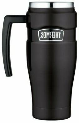 Thermos Stainless King 16 Ounce Travel Mug with Handle, Matt