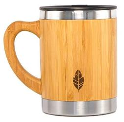 Wood Travel Insulated Coffee Cup | Stainless Steel Bamboo Mu
