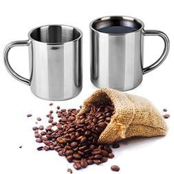 Stainless Steel Coffee Mug - Double Wall Coffee Cup – Drin