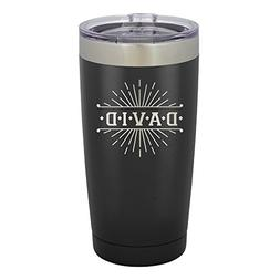 Froolu Stainless Steel Travel Coffee Mug - Black Personalize
