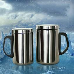 Stainless Steel Double Wall Mug Cup Portable Travel Coffee T