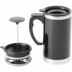 Stainless Steel Lined TRAVEL FRENCH PRESS MUG Double Wall Co
