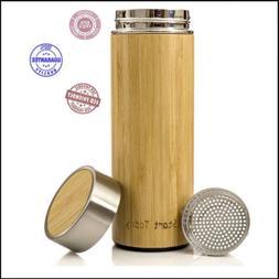 Start Today Stainless Steel Strainer Bamboo Travel Mug