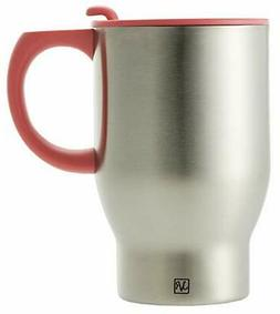 Stainless Steel Travel Coffee Mug with Handle and Lid Double
