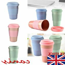 Stainless Steel Travel Reusable Bamboo Coffee Cups Eco Frien