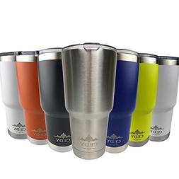 30 oz Stainless Steel Vacuum Insulated Tumbler with Lid, Dou